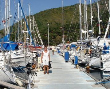 Am Ziel in Marmaris